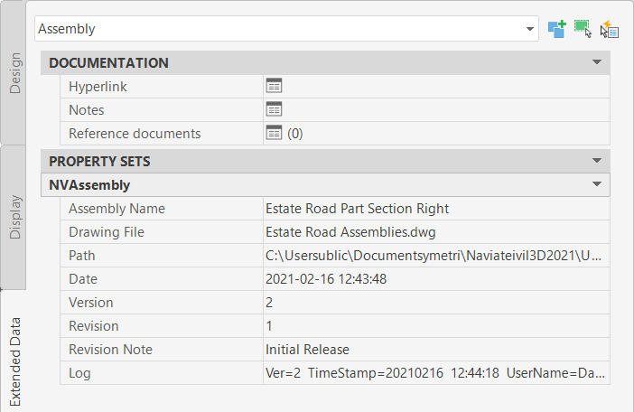 21 APR Control your corridors with Naviate Infrastructure publish assembly property set