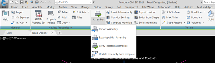 21 APR Control your corridors with Naviate Infrastructure publish assembly version revision