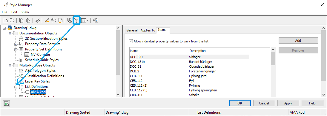 21 AUG Naviate for Civil 3D blog - AMA coding - 12 only visible in this window