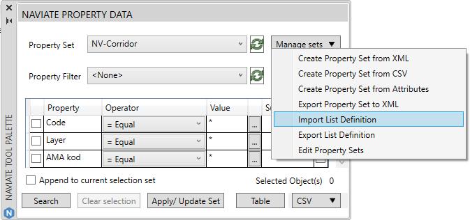 21 AUG Naviate for Civil 3D blog - AMA coding - 9 property palette import list definition