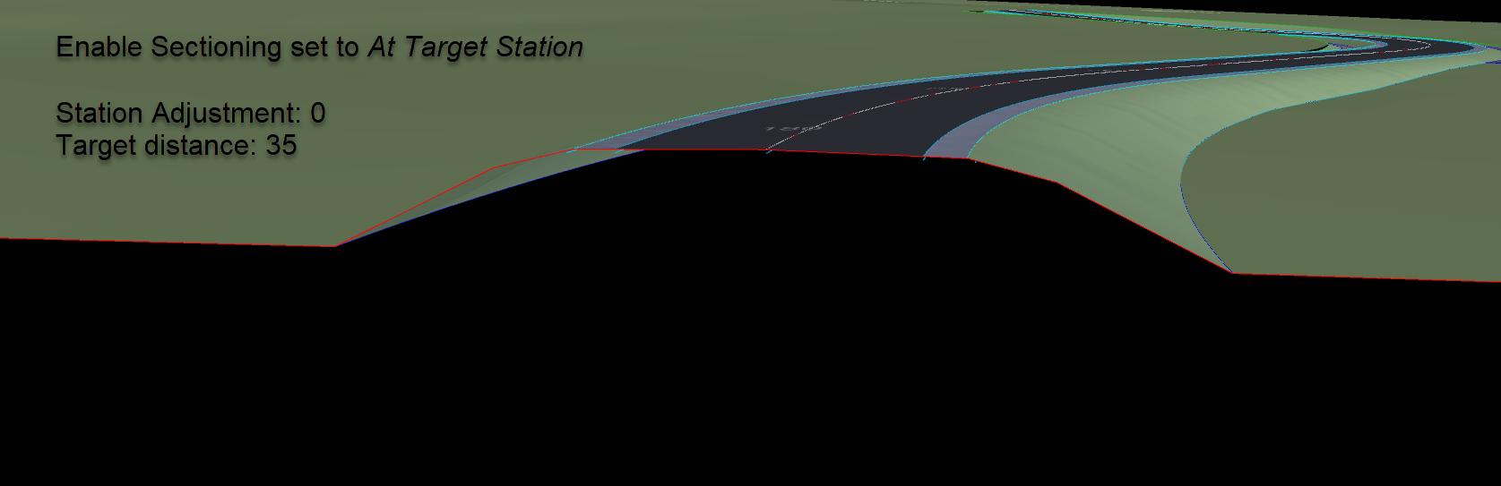 21 SEP 14 Navisworks Views for Civil 3D 8 enable sectioning set to at camera station adjustment 0
