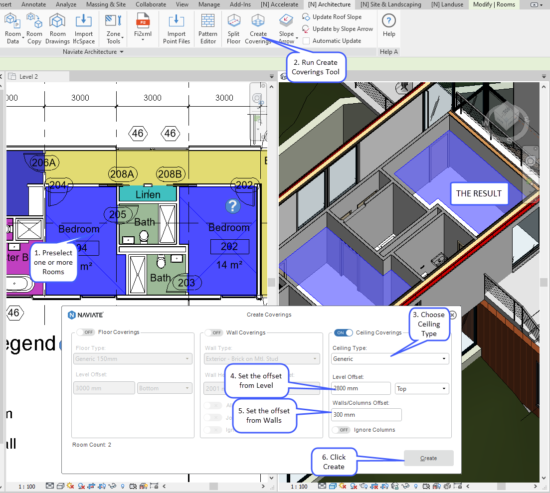 21 OCT Create Coverings with Naviate Architecture for Revit ceiling coverings