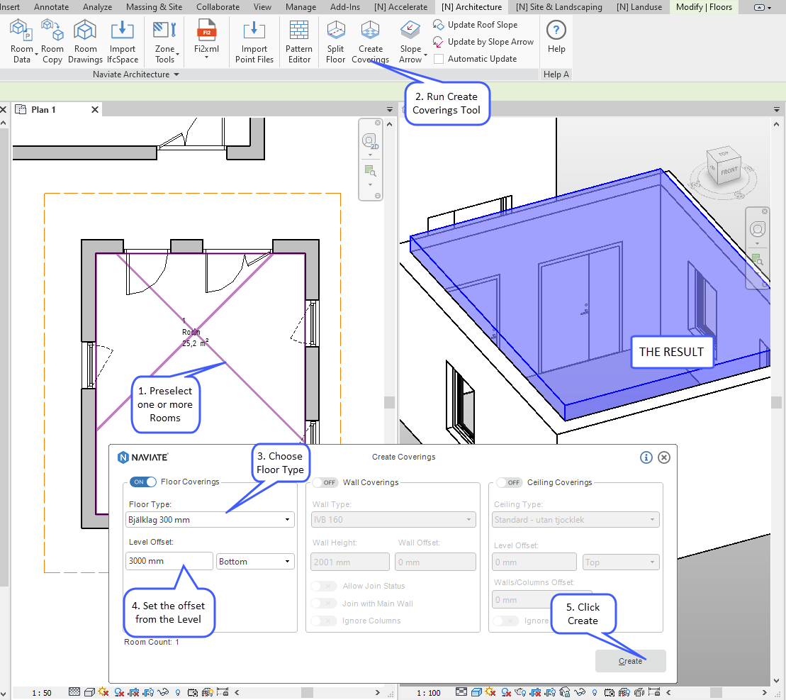 21 OCT Create Coverings with Naviate Architecture for Revit floor coverings