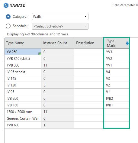 21 SEP Revit Edit Parameter Value editing data in grid 6